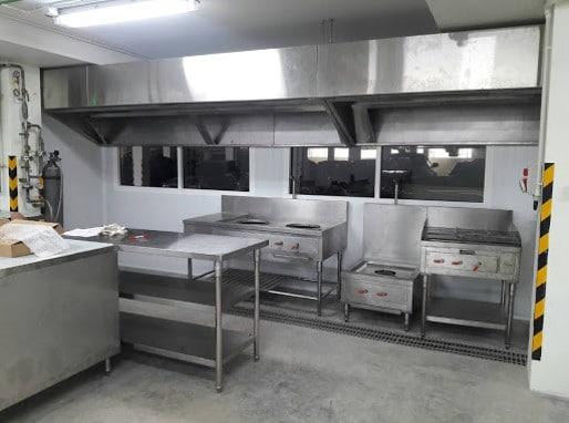 Installed Hood Kitchen Room
